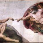 La Creazione di Adamo di Michelangelo nella Cappella Sistina.