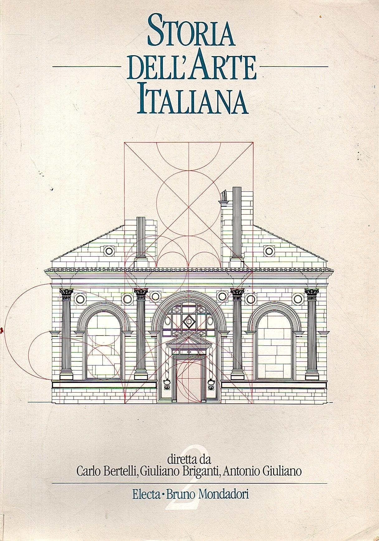 Copertina del libro Storia dell'arte italiana di Bertelli, Briganti e Giuliano